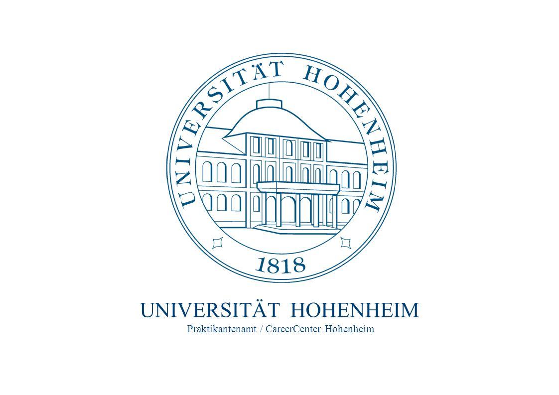 Praktikantenamt / CareerCenter Hohenheim