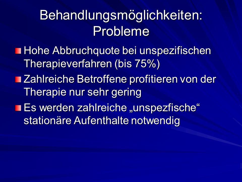 Behandlungsmöglichkeiten: Probleme