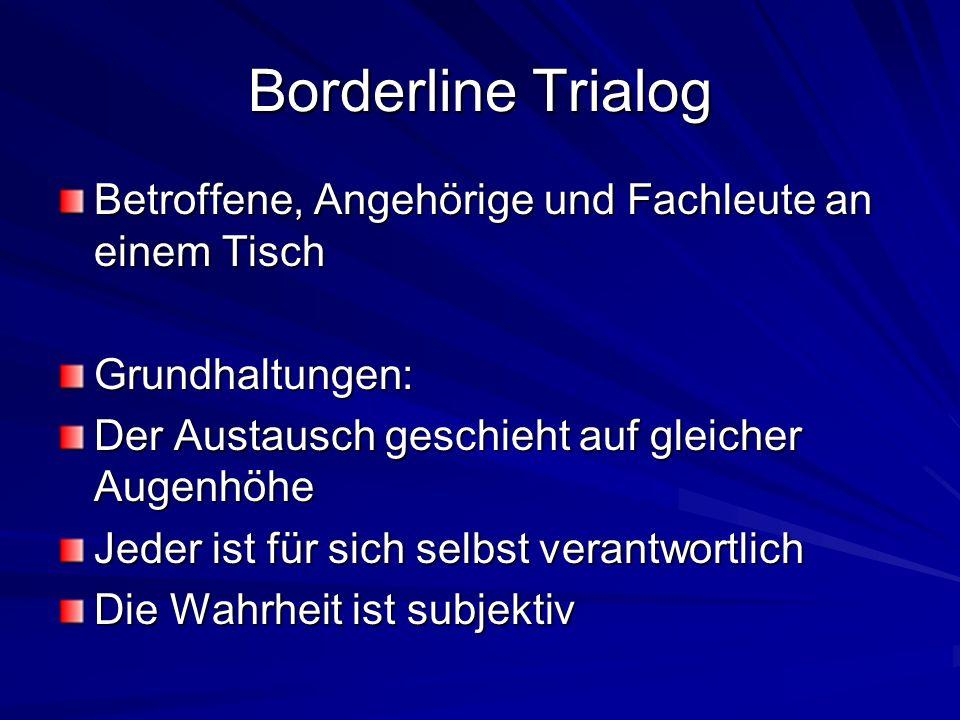 Borderline Trialog Betroffene, Angehörige und Fachleute an einem Tisch