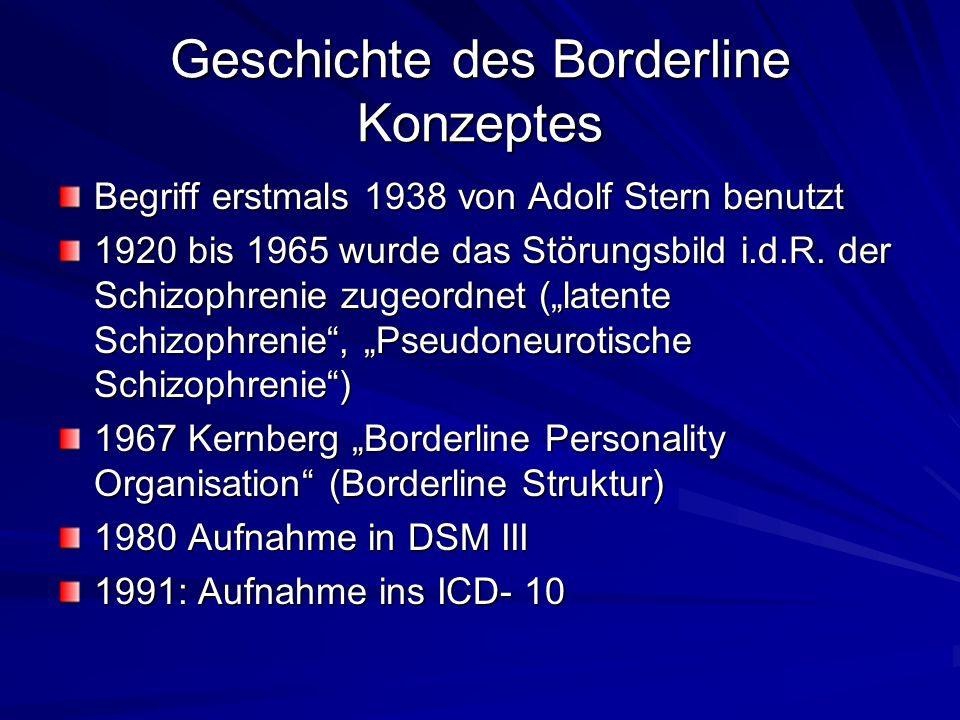 Geschichte des Borderline Konzeptes