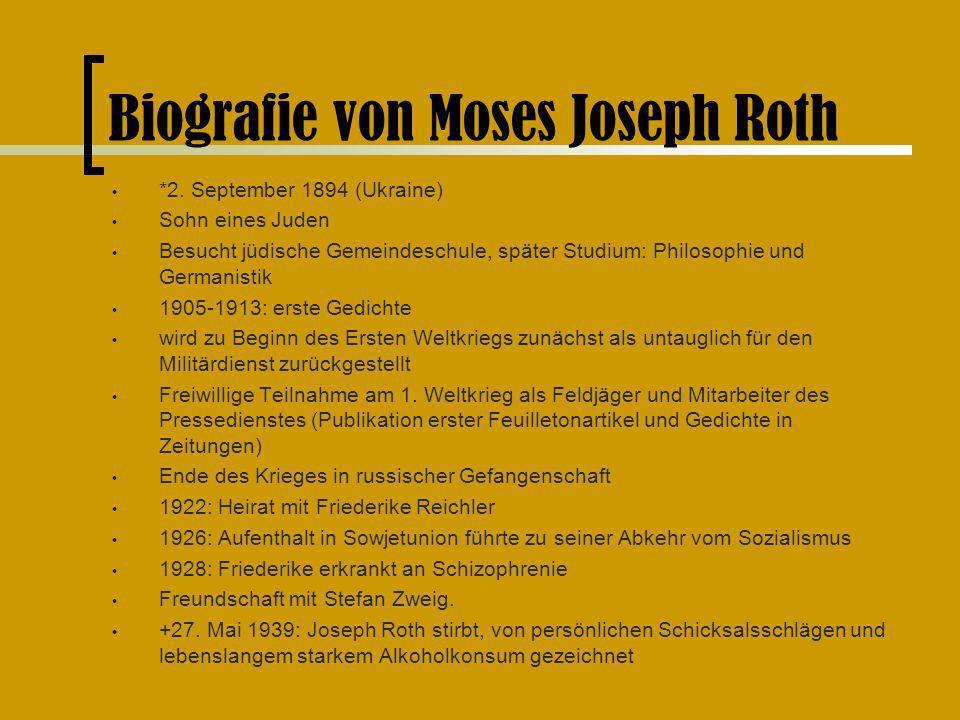 Biografie von Moses Joseph Roth