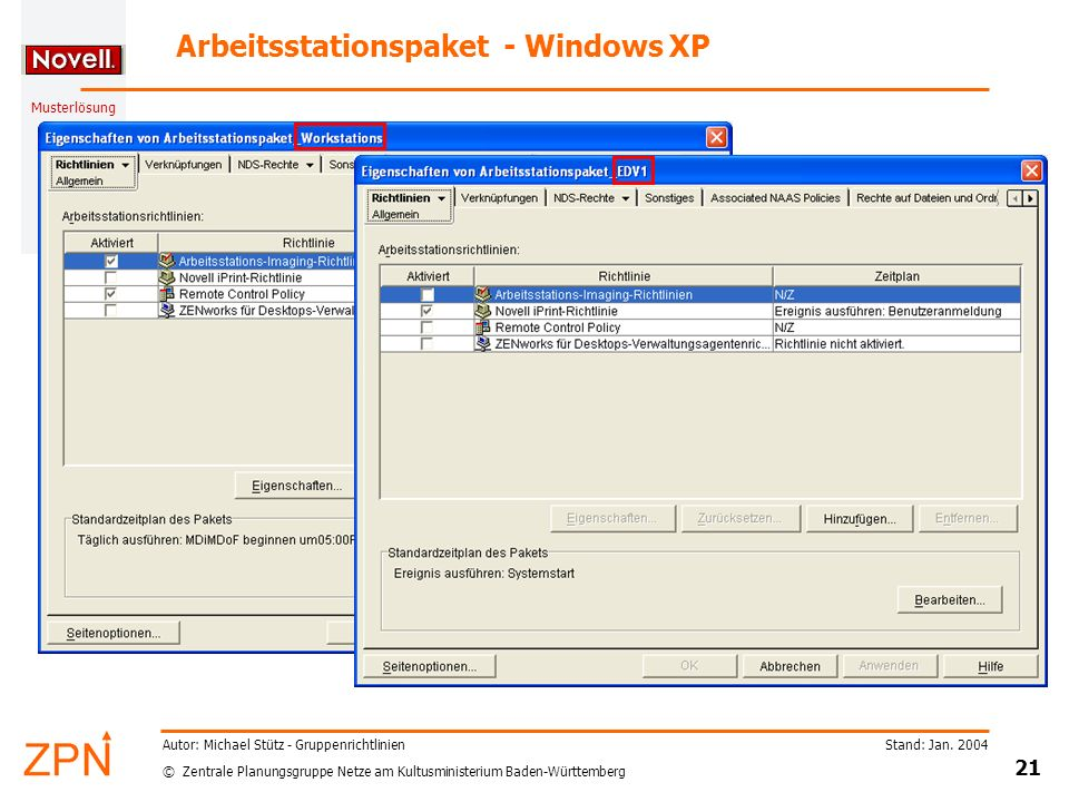 Arbeitsstationspaket - Windows XP