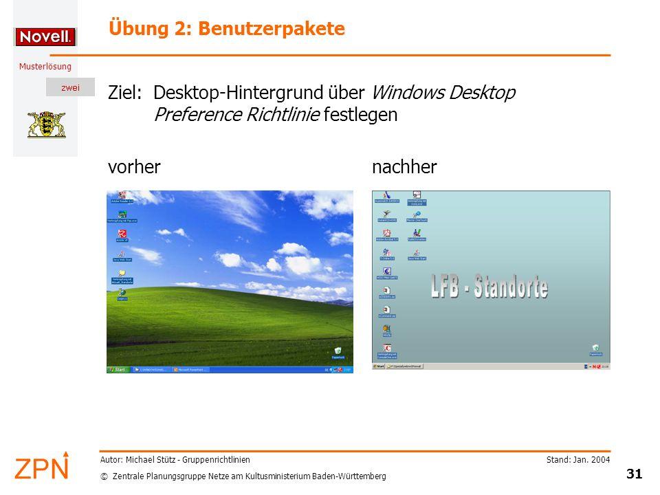 Übung 2: Benutzerpakete