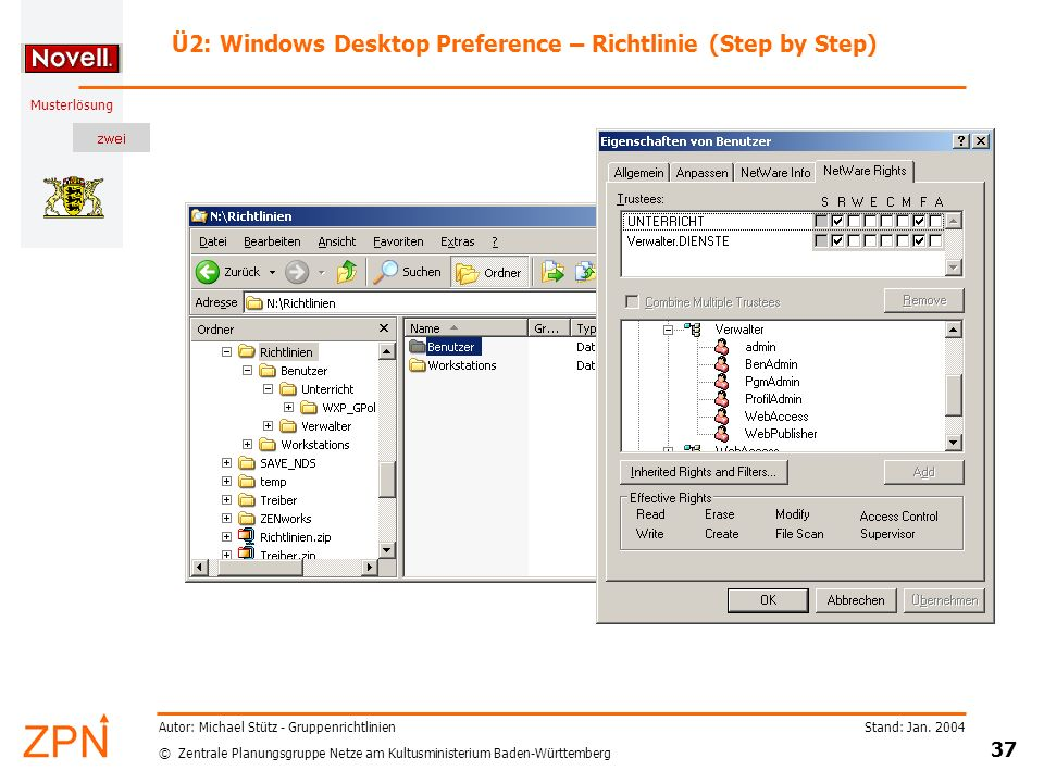 Ü2: Windows Desktop Preference – Richtlinie (Step by Step)