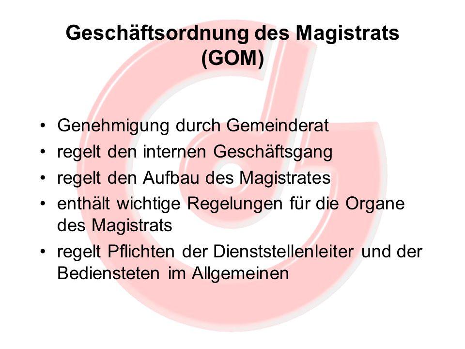 Geschäftsordnung des Magistrats (GOM)