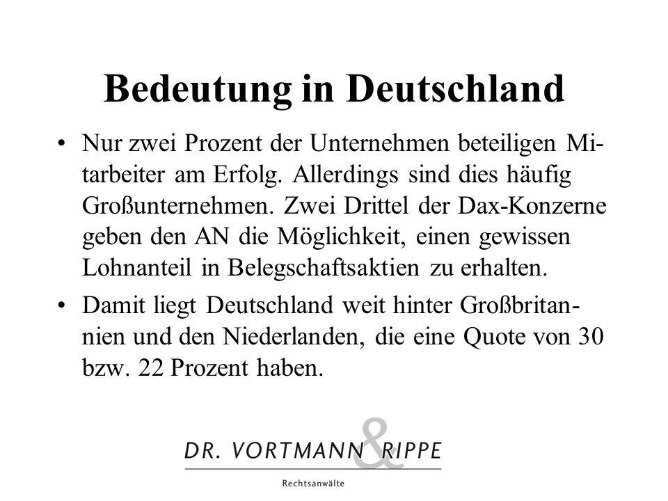 Bedeutung in Deutschland