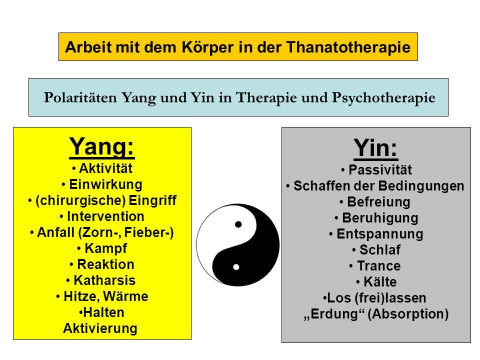 Yang: Yin: Arbeit mit dem Körper in der Thanatotherapie Aktivität