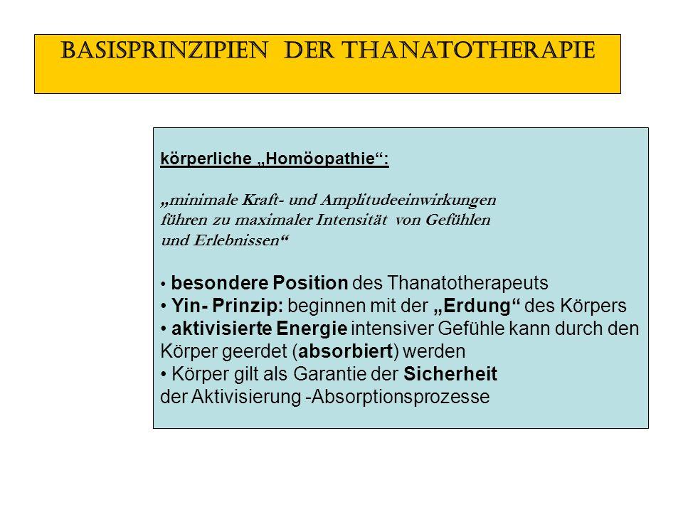 Basisprinzipien der Thanatotherapie