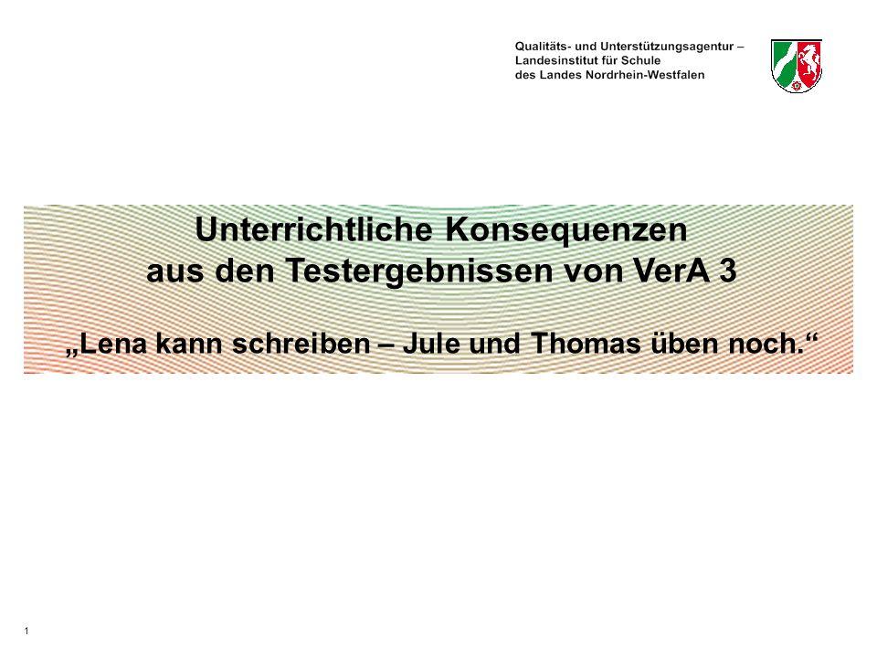 Unterrichtliche Konsequenzen aus den Testergebnissen von VerA 3