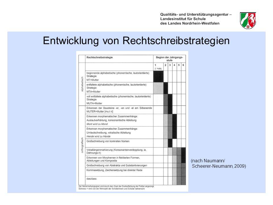 Entwicklung von Rechtschreibstrategien