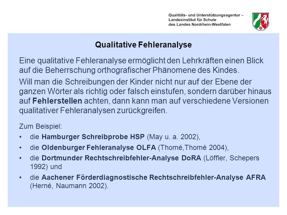 Qualitative Fehleranalyse