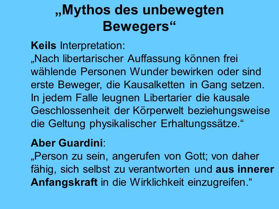 """""""Mythos des unbewegten Bewegers"""