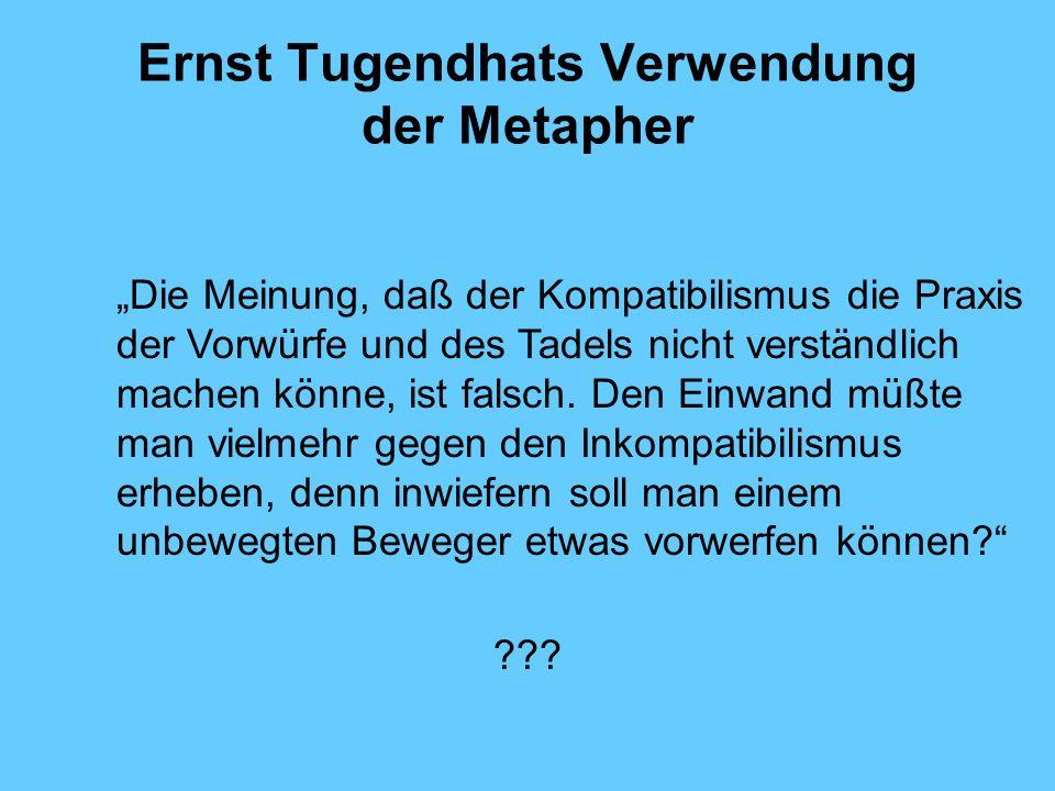 Ernst Tugendhats Verwendung der Metapher
