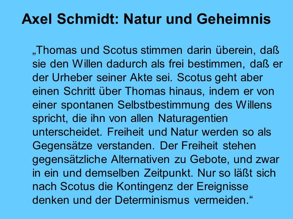 Axel Schmidt: Natur und Geheimnis