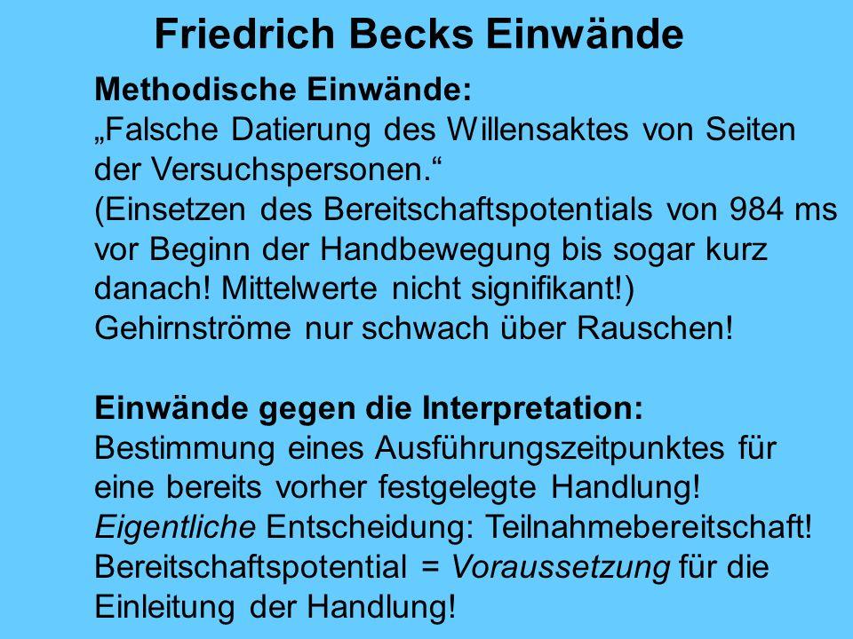 Friedrich Becks Einwände