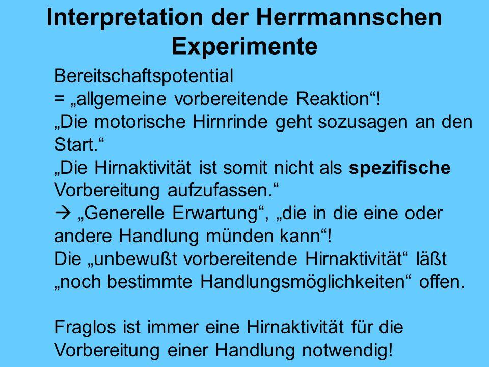 Interpretation der Herrmannschen Experimente
