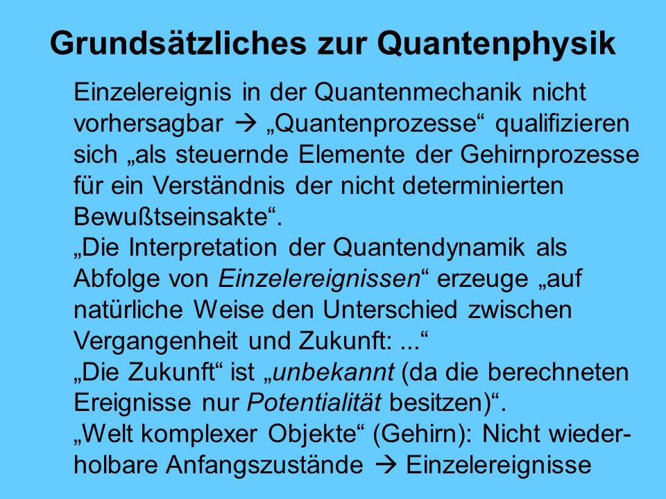Grundsätzliches zur Quantenphysik
