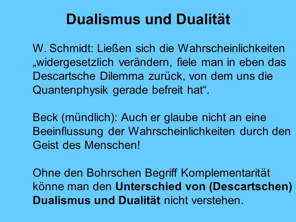 Dualismus und Dualität