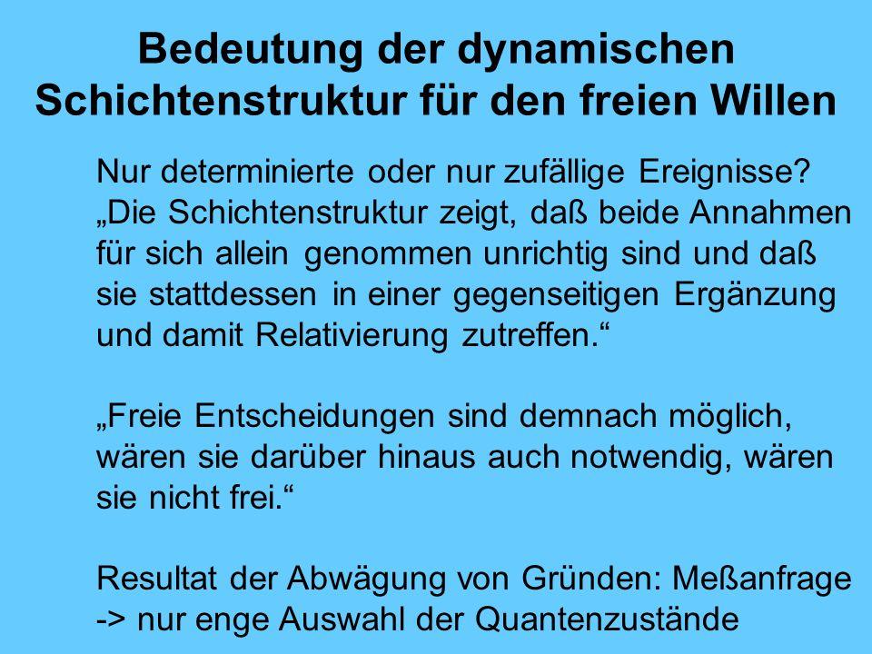 Bedeutung der dynamischen Schichtenstruktur für den freien Willen