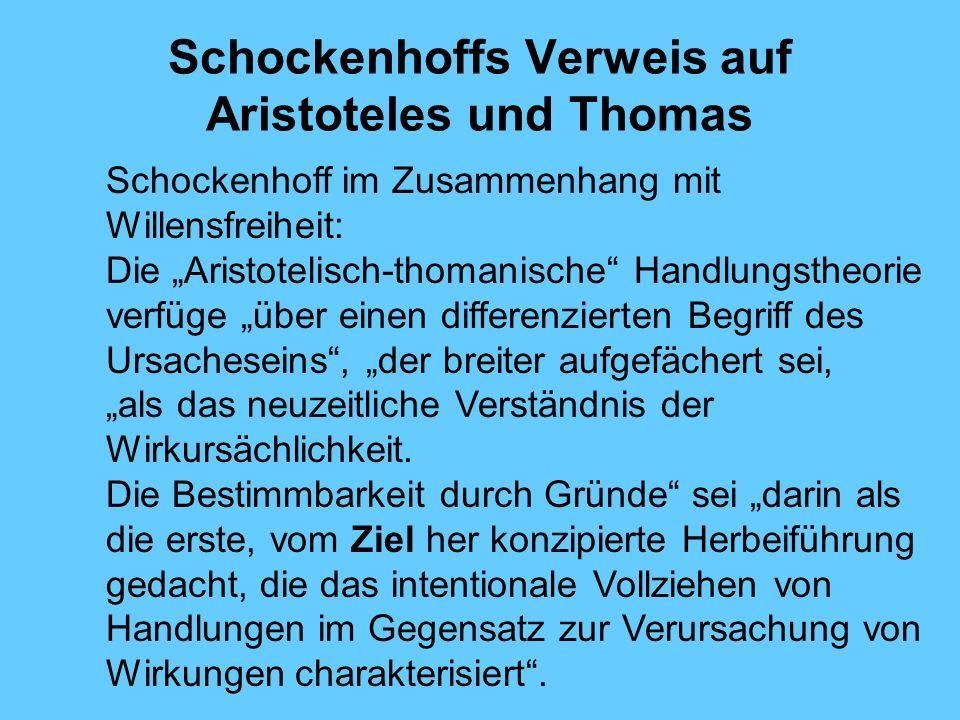 Schockenhoffs Verweis auf Aristoteles und Thomas