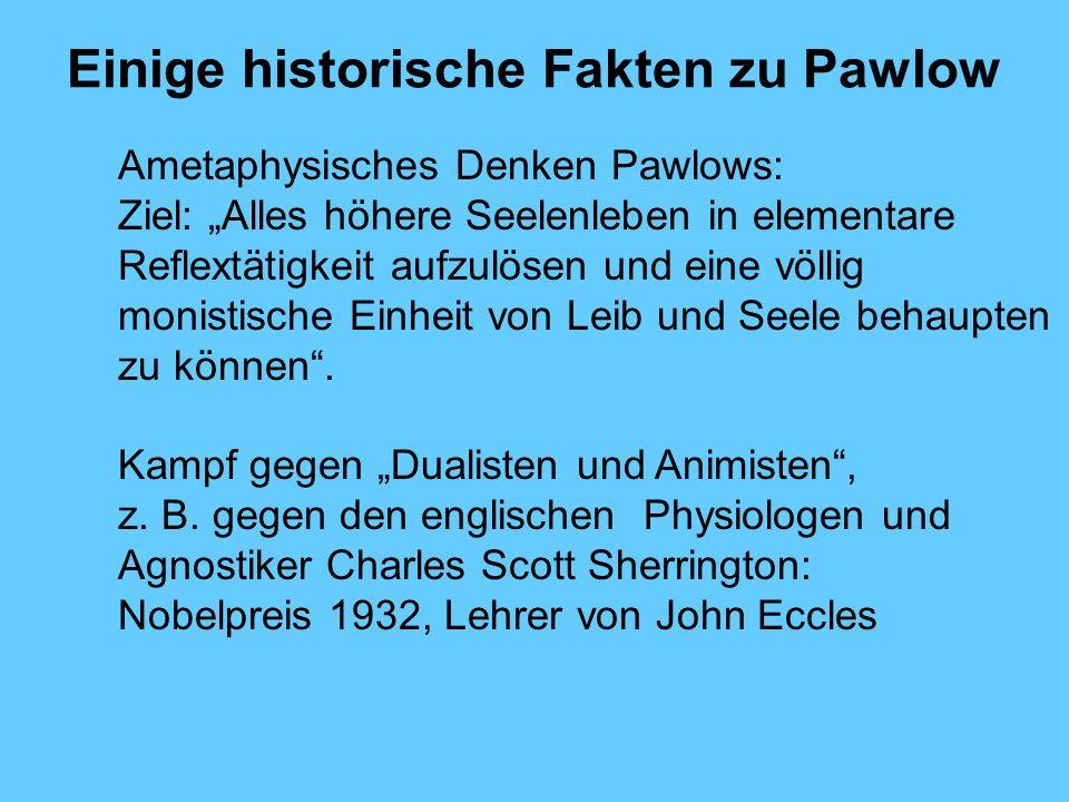 Einige historische Fakten zu Pawlow