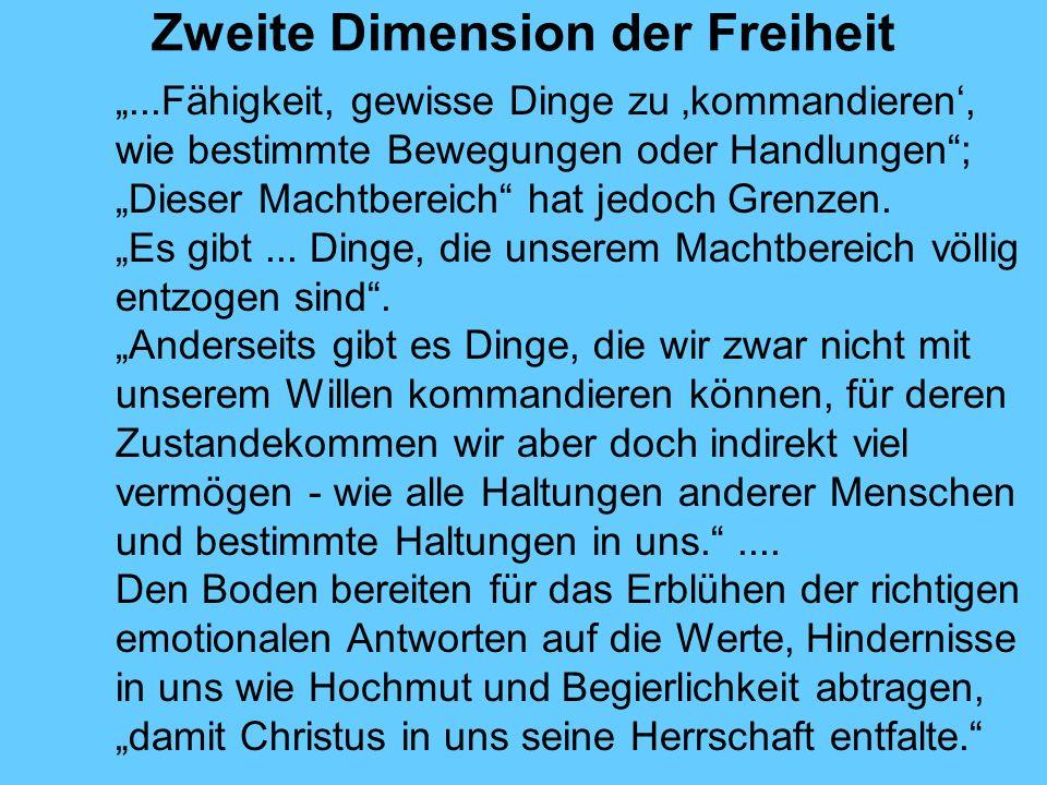 Zweite Dimension der Freiheit