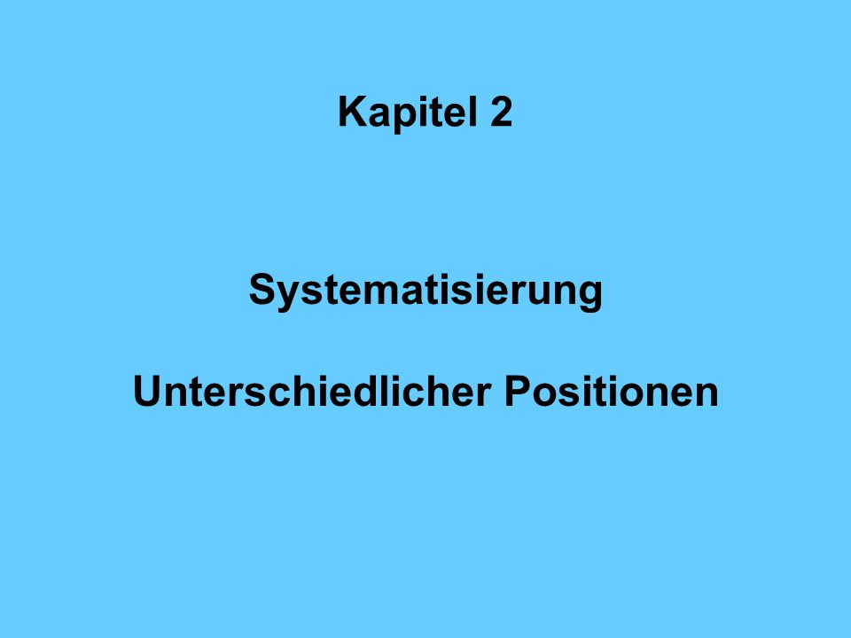 Unterschiedlicher Positionen
