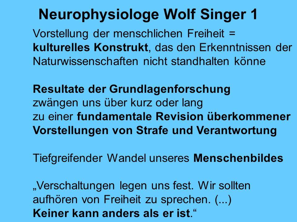Neurophysiologe Wolf Singer 1