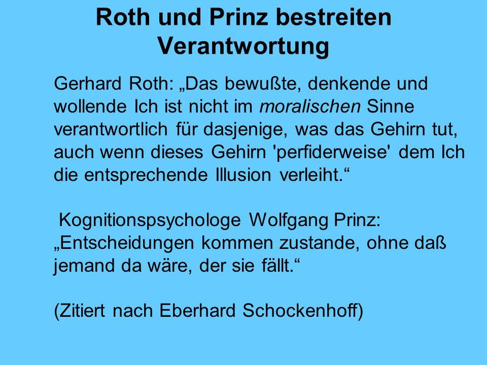 Roth und Prinz bestreiten Verantwortung