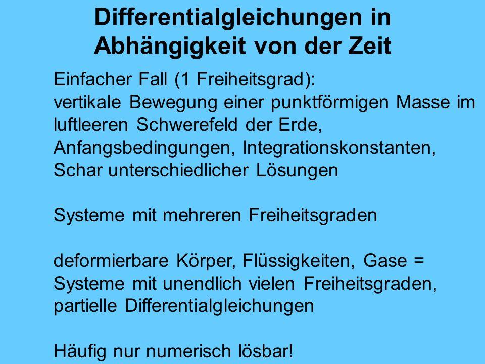 Differentialgleichungen in Abhängigkeit von der Zeit