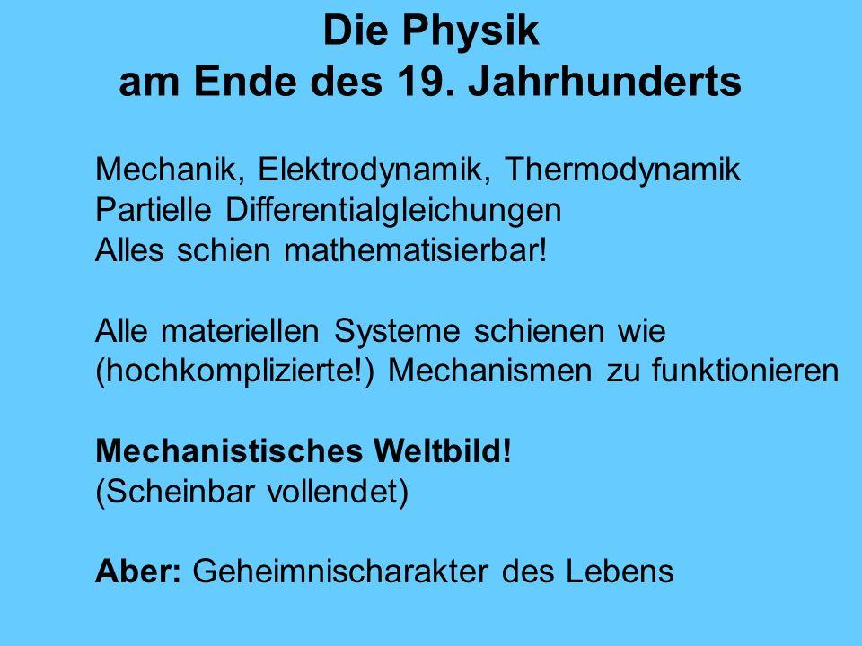 Die Physik am Ende des 19. Jahrhunderts
