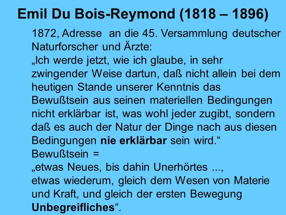 Emil Du Bois-Reymond (1818 – 1896)