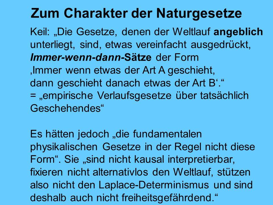 Zum Charakter der Naturgesetze