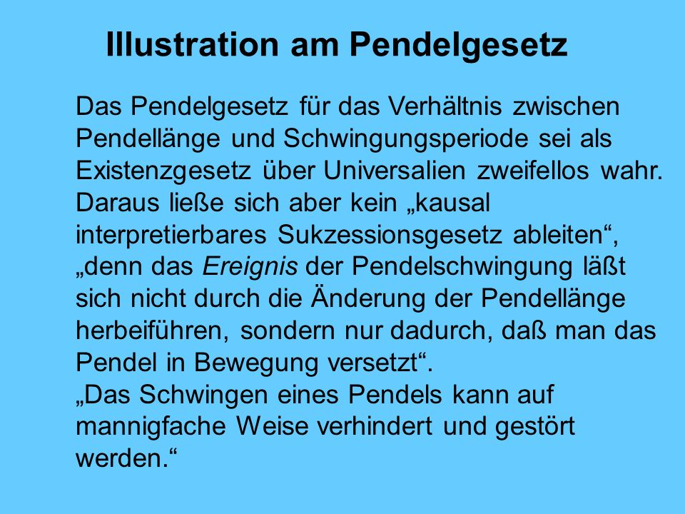Illustration am Pendelgesetz