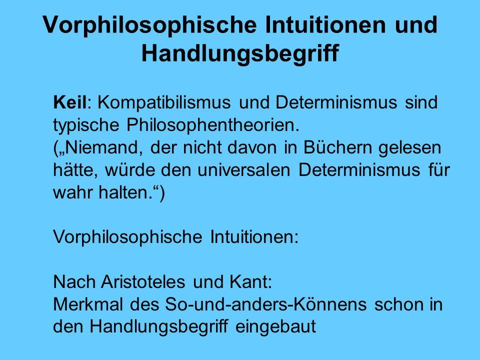 Vorphilosophische Intuitionen und Handlungsbegriff