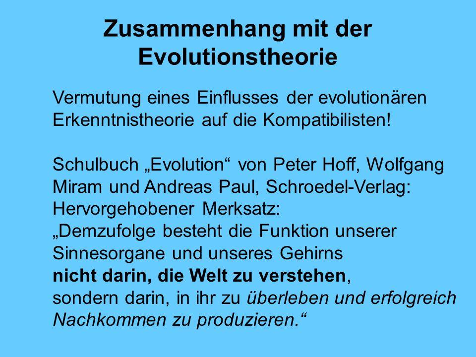 Zusammenhang mit der Evolutionstheorie