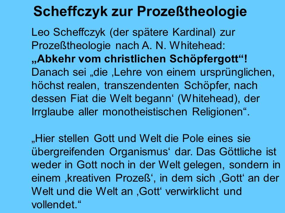 Scheffczyk zur Prozeßtheologie