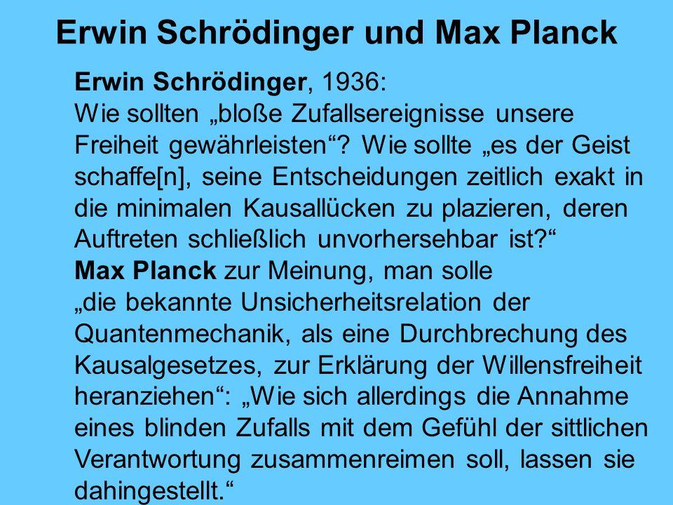 Erwin Schrödinger und Max Planck