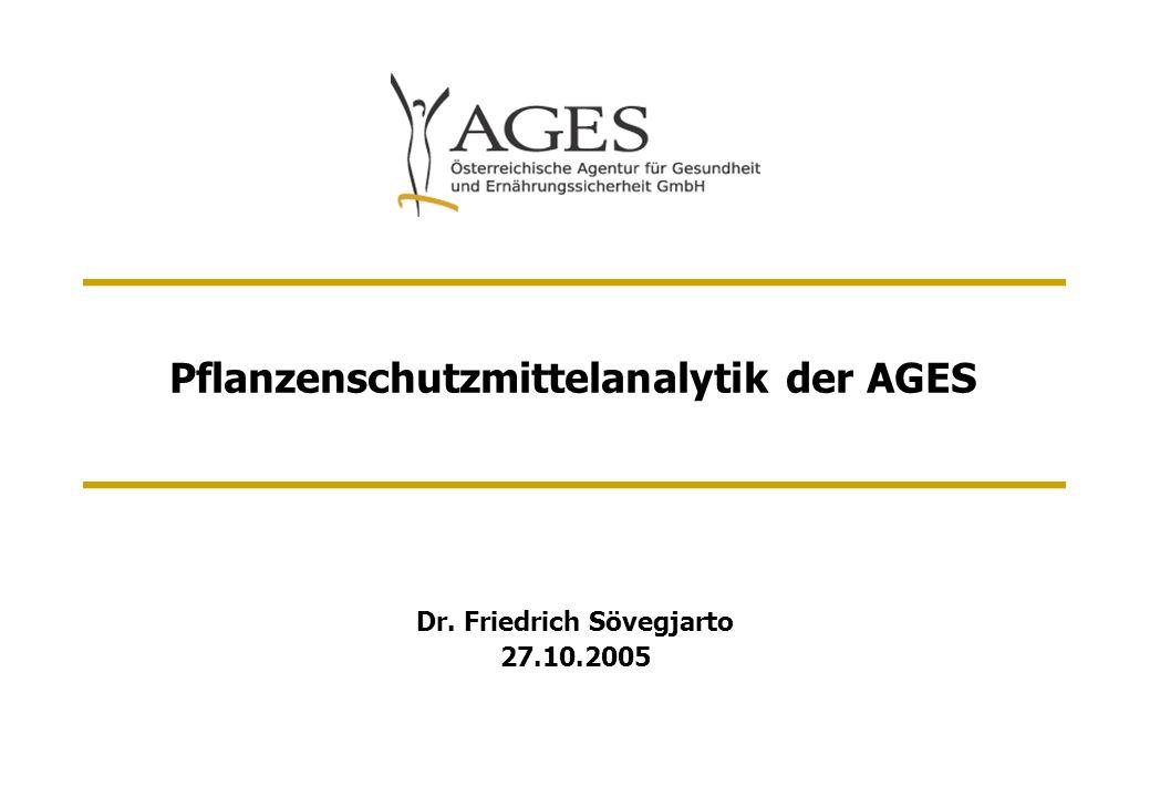 Pflanzenschutzmittelanalytik der AGES