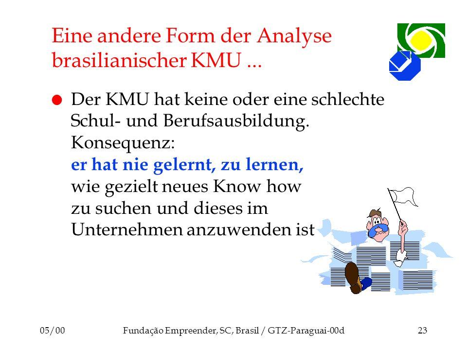 Eine andere Form der Analyse brasilianischer KMU ...
