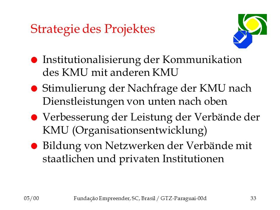 Strategie des Projektes