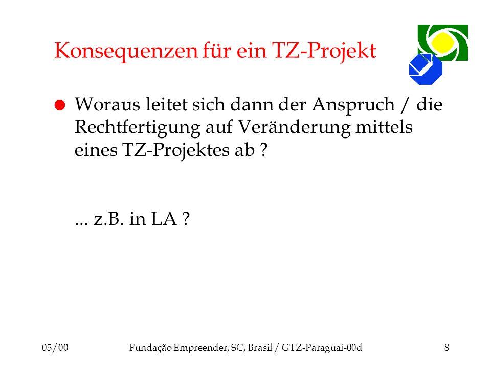 Konsequenzen für ein TZ-Projekt
