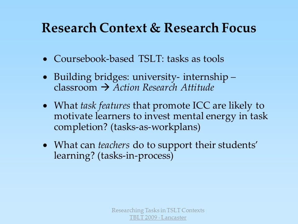 Research Context & Research Focus