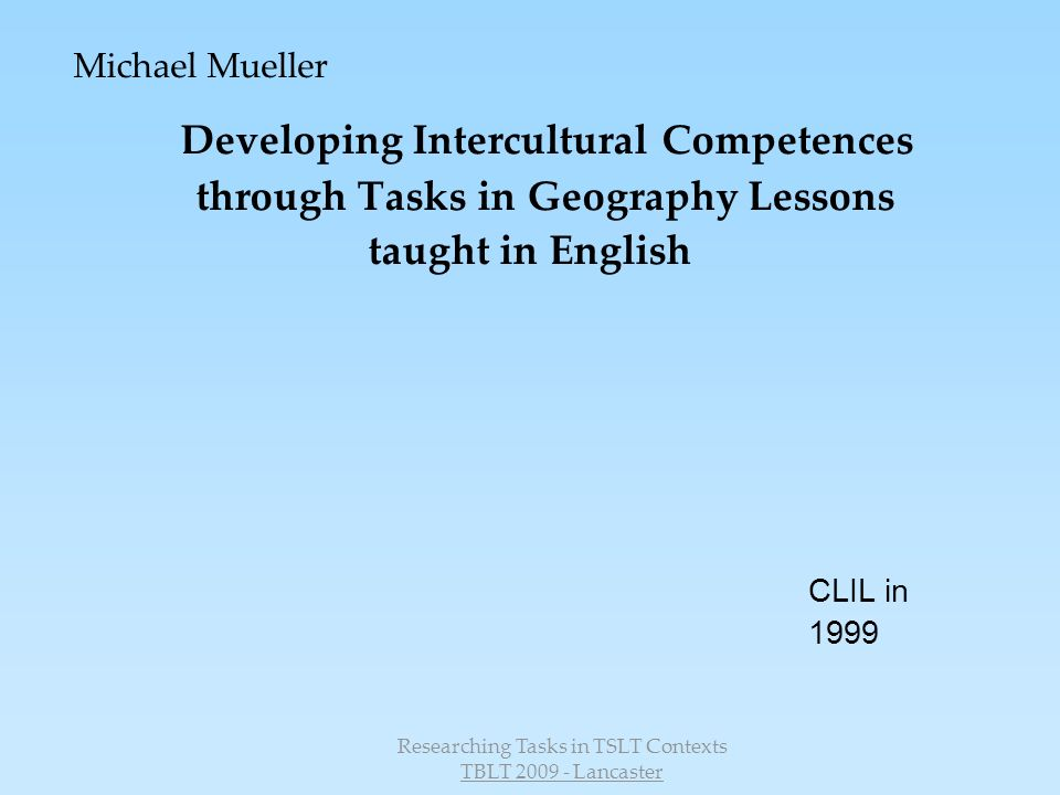 Developing Intercultural Competences