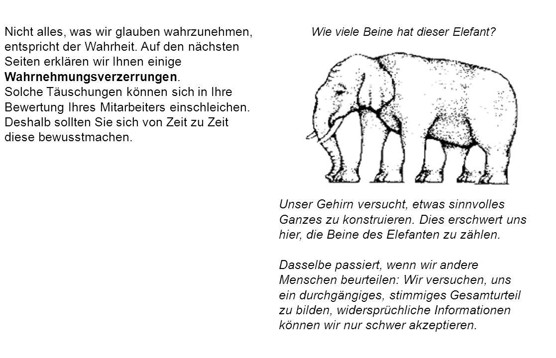 Wie viele Beine hat dieser Elefant