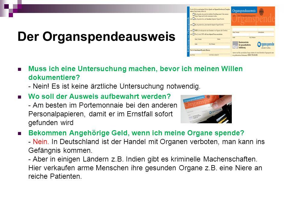 Der Organspendeausweis