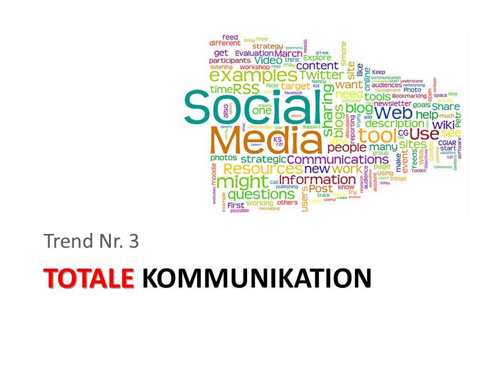 Trend Nr. 3 TOTALE KOMMUNIKATION