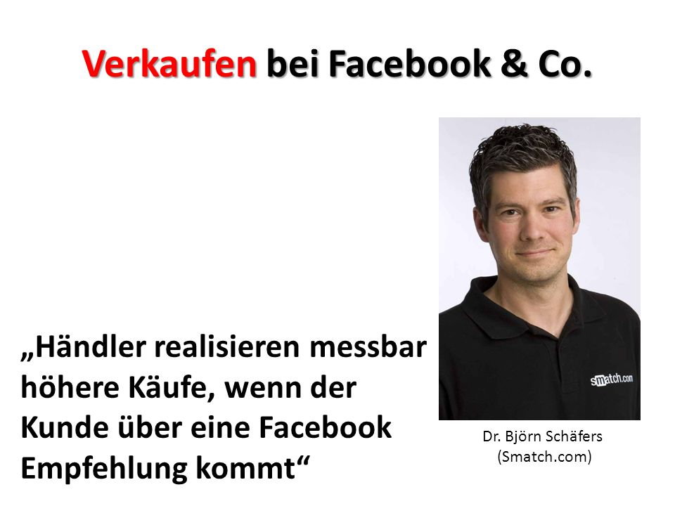 Verkaufen bei Facebook & Co.