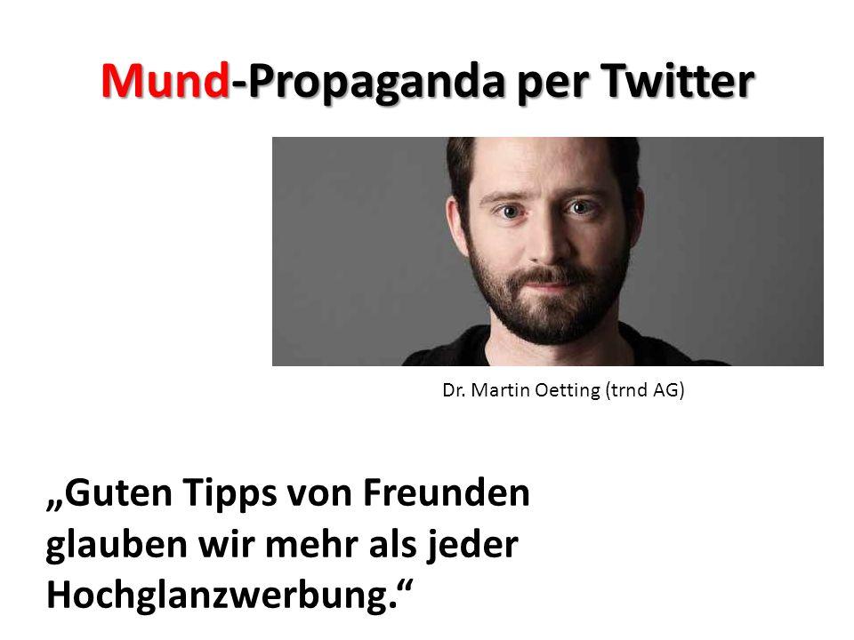 Mund-Propaganda per Twitter