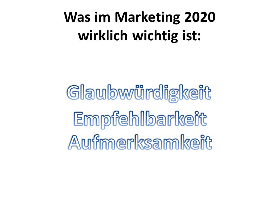 Was im Marketing 2020 wirklich wichtig ist: